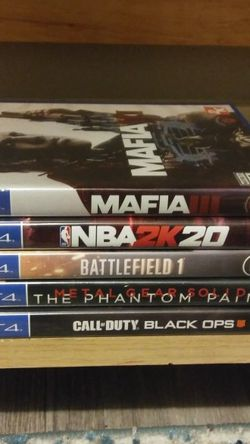 5 PS4 GAMES BUNDLE for Sale in Salem,  OR