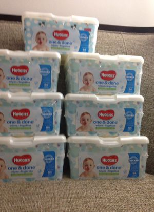# 7 Packs of Huggies Wipes. Please See All The Pictures and Read the description for Sale in Falls Church, VA