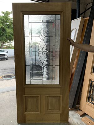 36x80 Wood Door with Glass for Sale in Miami, FL