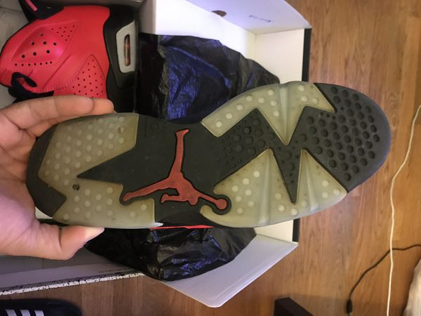 "Air Jordan Retro 6 Infrared 23 ""Toro"" Size 8.5"