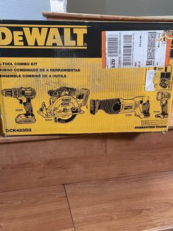 Dewalt 20v Max Lithium Ion 4-tools Combo Kit Brand New Open Box for Sale in Las Vegas,  NV