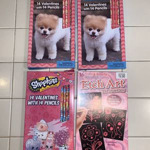 3 brand new boxes of Valentine's Day cards with pencils: Shopkins & Boo for Sale in Fort Lauderdale, FL