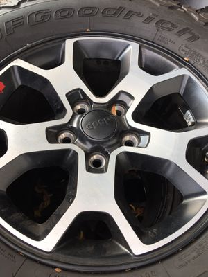 Used set of (5) Jeep OE wheels with BFG tires for Sale in La Habra, CA