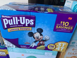 Huggies pull ups 🎈🎈 size 3T-4T count 116 $25 serious buyers for Sale in North Las Vegas, NV