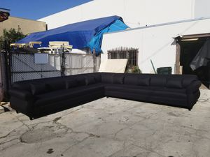 NEW 11X11FT DOMINO BLACK FABRIC SECTIONAL COUCHES for Sale in Moreno Valley, CA