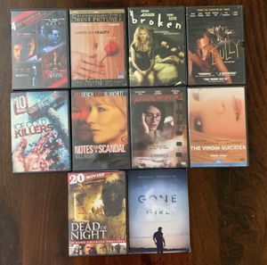 10 DVDs: Dark, Mystery, Suspense, Exciting for Sale in The Colony, TX