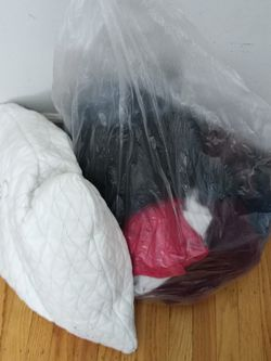 Free - Bag Full Of Clothes And Pillow for Sale in San Jose,  CA