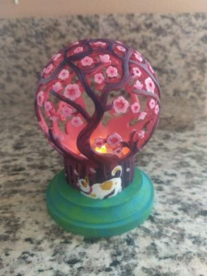 Hand Painted Cherry Tree Tea Light decore for Sale in Corona, CA