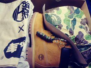 Bape× Timberlands× undefeated sz.8.5 for Sale in Tacoma, WA