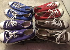 4 pairs of converse for Sale in Boston, MA