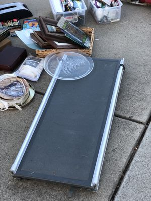 For sale: tv tray set, wheelchair truck wench (new), used suitcases, two drawer file cabinet, vacuum cleaner, dog ramp. Make offers. for Sale in Lodi, CA