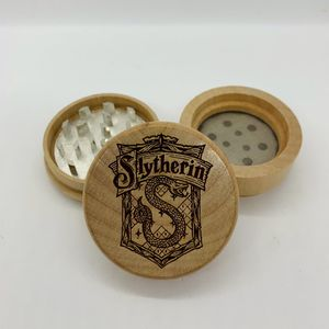 Harry potter Slytherin laser engraved wood kitchen herb grinder Christmas gift kitchen pop for Sale in Los Angeles, CA