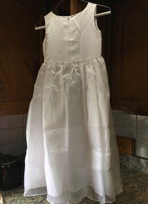 Girls white dress flower girl / communion for Sale in Woburn, MA