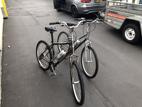 One Specialized and One Cannondale two bikes for sale