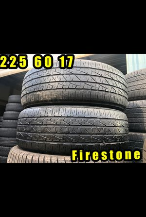 225 60 17 FIRESTONE MATCHING PAIR for Sale in Greer, SC
