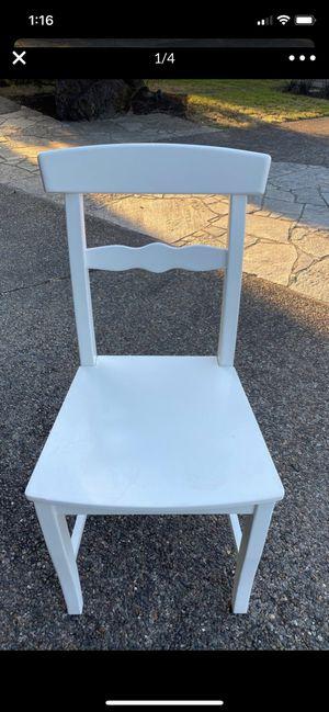 White wooden desk chair for Sale in Beaverton, OR