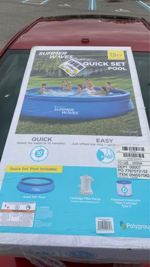 Summer Waves 15FT Pool. New in the plastic. for Sale in Palm Harbor, FL