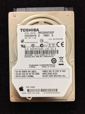 Toshiba Hard Drive 250gb for Laptop Dell, hp, PlayStation, Xbox for Sale in Houston, TX