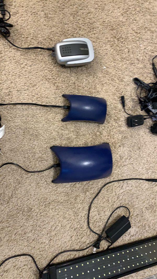 Aquarium lights air pumps