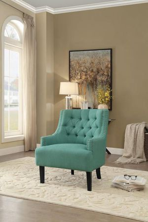 Charisma Teal Accent Chair by Homelegance for Sale in Jessup, MD
