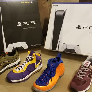 "PlayStation 5 (US Plug) ""Disk"" Blu-Ray & Digital Edition Console Separately Jordan Retro Black Royal 1 3 4 5 11 8 13 12 White Orange Proto Volt for Sale in Snellville, GA"
