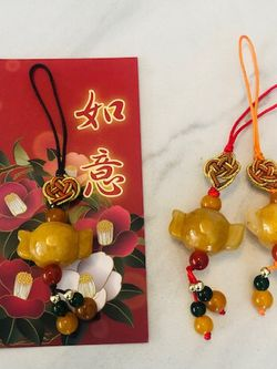 Chinese Knot Money Charm, Key Chain Pendant, Jade or Glass ornament that represent Luck and Money for Sale in Hollywood,  FL