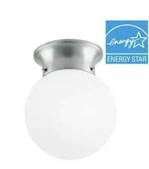 Commercial Electric 6 in. 60-Watt Equivalent Brushed Nickel, LED Flush for Sale in Saint Petersburg, FL