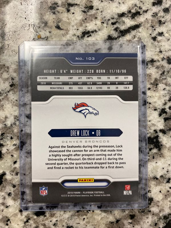 Drew Lock rookie card nfl Broncos
