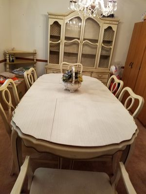Dining room table with 6 chairs, china cabinet, corner table, tea cart for Sale in Columbus, OH