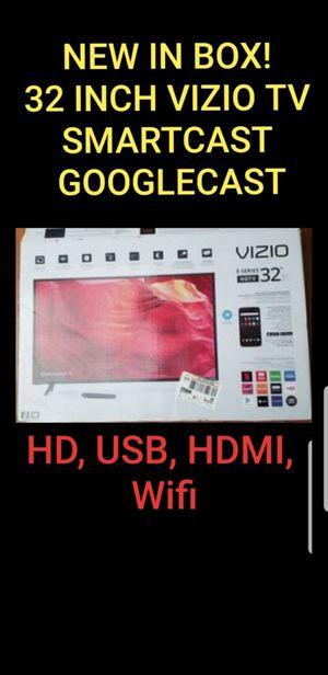 New HD E series 32 inch Vizio Smartcast Chromecast TV with box and original remote etc for Sale in Vista, CA