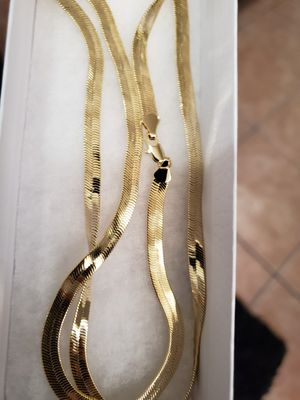 30 inch 14k Gold plated herringbone chain for Sale in Los Angeles, CA