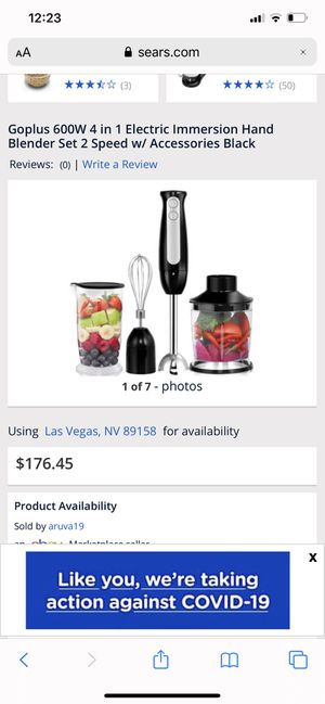 Beautiful blender set 2 speed w / accessories for Sale in Compton, CA