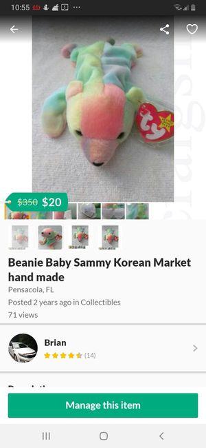 Beanie Baby Sammy Korean Market hand made for Sale in Pensacola, FL