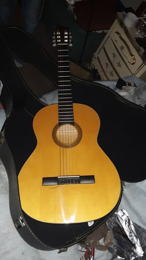Handmade Acoustic Guitar w/ hand carved mother of pearl dials for Sale in Fresno, CA