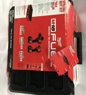 NEW Milwaukee 2997-22PO M18 FUEL 2-TOOL COMBO KIT W/PACKOUT. Condition is New. for Sale in Renton, WA