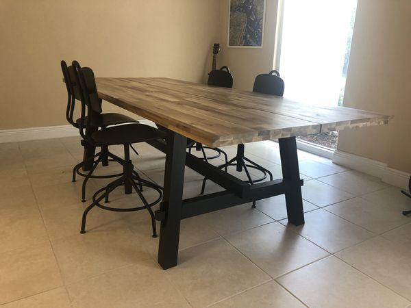 Ikea Skogsta Table With 4 Chairs For Sale In Pompano Beach