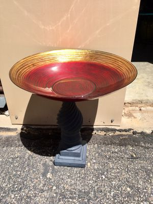 Bird Bath Feeder for your garden. Vivid colors choose a base! for Sale in Bayfield, CO