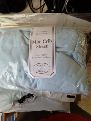 Baby crib sheets Blue for Sale in North Richland Hills, TX