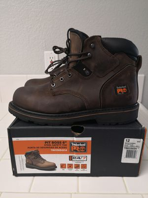 Brand new timberlands pro 24 /7 steel toe work boots size 12 for Sale in Riverside, CA