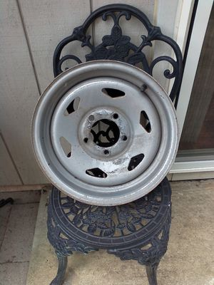 Trailer dolly rim made in the USA 5 bolt steel 14x6.0 10.00 dollars for Sale in Olympia, WA