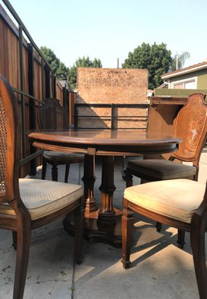 Chestnut Wooden Dining Table with Chairs for Sale in Long Beach, CA