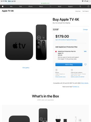 Apple TV 4K 100$ for Sale in Los Angeles, CA