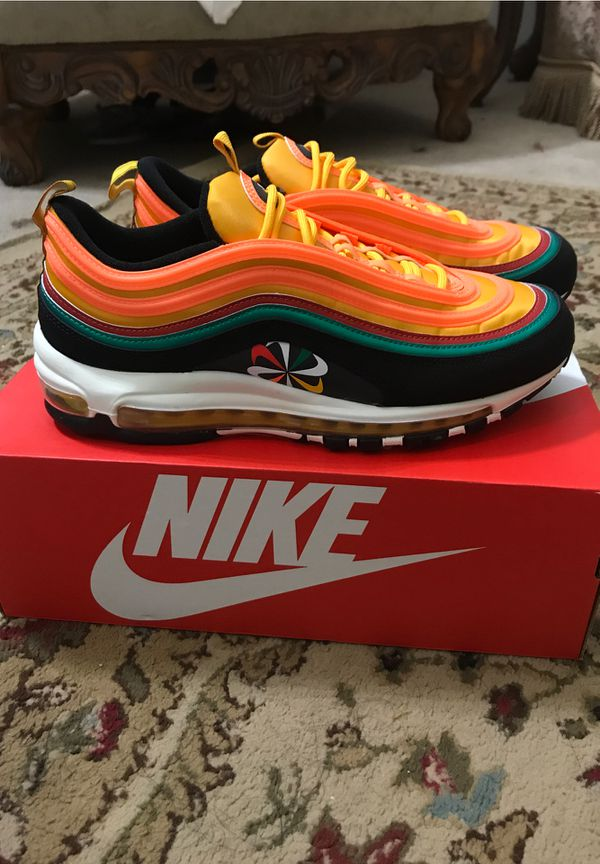 Nike air max 97 Sunburst color way I Men's size 9.5 NEVER WORN BEFORE, Retail 170.00 putting for 170.00 but price is negotiable no low balls
