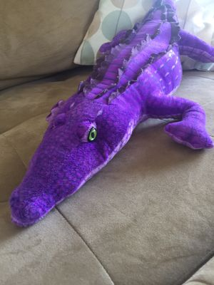 Purple alligator crocodile plush stuffed animal toy for Sale in Orlando, FL