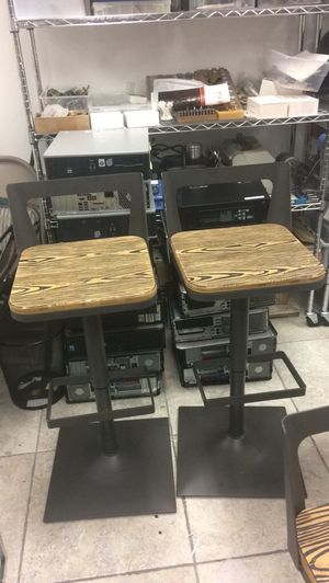 Adjustable Wooden Bar Stools for Sale in Key Biscayne, FL