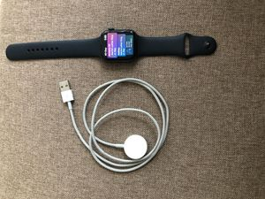 Apple Watch Series 4 - 44M Gray Casing w/ Black Band and Charger for Sale in Fresno, CA