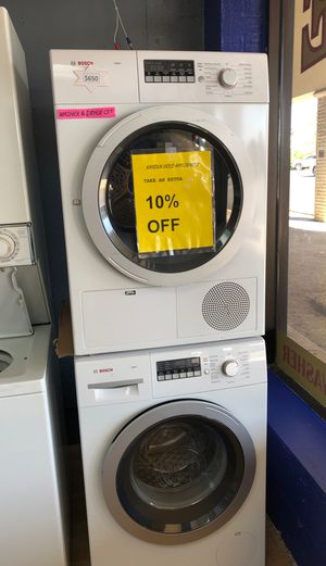 Bosch white front load washer and dryer set for Sale in Woodbridge, VA