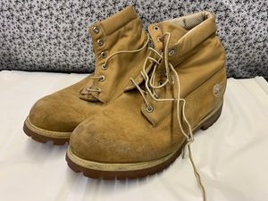 Size 12 Men's Timberland Boots - Genuine Leather Work Boots for Sale in Lauderdale Lakes, FL