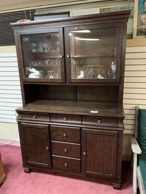 Attractive 2-Piece China Cabinet With Touch Lighting for Sale in Baltimore, MD