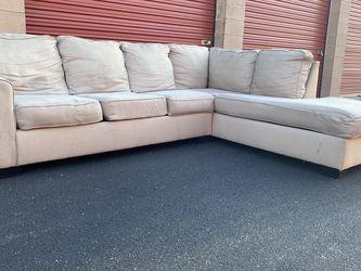 Light Gray L Shape Sectional for Sale in Herndon,  VA